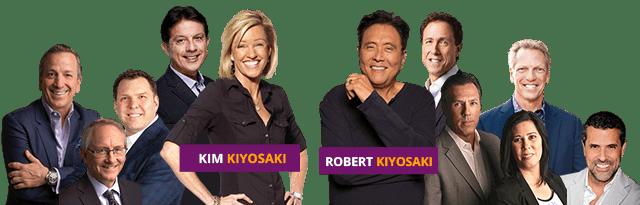 Robert Kiyosaki y su equipo